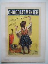 BOUISSET Firmin - Les Maîtres de l'Affiche Lithographie Chocolat Menier Rare