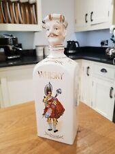 More details for 🕊vintage novelty highlander ceramic whiskey decanter 27.5cm tall width 8.5cms