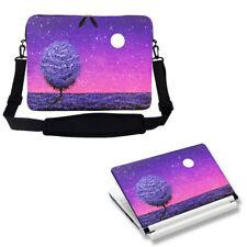 "17"" 17.3"" Neoprene Laptop Sleeve case Bag w Shoulder Strap & Matching Skin 3121"