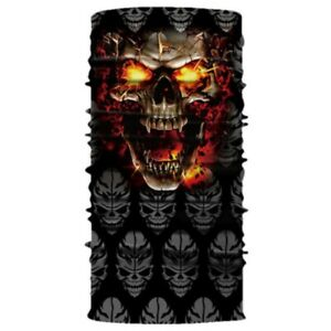 Flaming Skull Multifunctional Snood Scarf