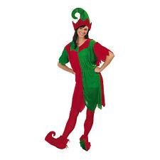 Christmas Elf Costume Ladies Female Fancy Dress Santa's Helper New Medium Large