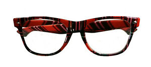 Nerd Glasses Adult Red Plaid Plastic Lense Costume Accessory Halloween Party