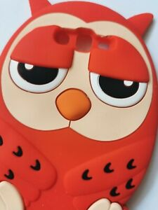 NEW 3D RED Night Owl Silicone Phone Case Cover Samsung Galaxy Grand Prime G530