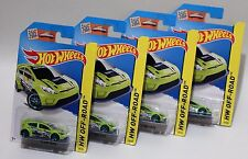'12 FORD FIESTA * LOT OF 4 * 2015 HOT WHEELS * LIME GREEN RALLYCROSS RACER 2012