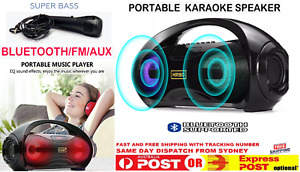 Portable Wireless Bluetooth Speaker Home Karaoke With Microphone