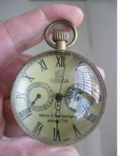 2 inch Exquisite Chinese vintage Copper Glass pocket watch Ball clock