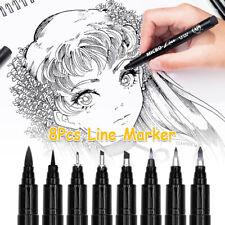 8X Calligraphy Pens Brush Marker Art Drawing Pen Set Refill Writing Signature T2