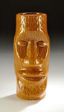 "Vintage Tiki Mug Easter Island Totem | Bar | Glass Mug | Vase | 6.75"" Tall"