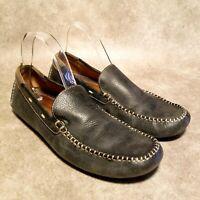 Johnston & Murphy Mens 25_0787 Sz 9.5 M Black Slip On Loafer Driving Shoes