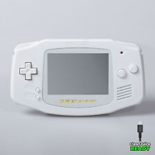 Game Boy Advance Shell Case Pure White Battery USB C IPS GBA RetroSix ABS
