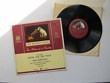 """Peter & The Wolf 10"""" 33 RPM LP PO Markevitch, Wilfred Pickles HMV DLP 1001 UK"""