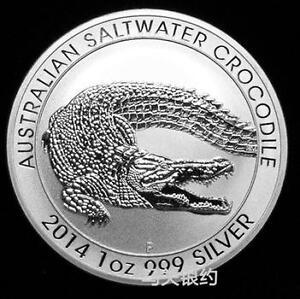 Australia 2014 Salt Water Crocodile (Animal Series) Silver .999 1oz (UNC)