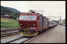 35mm slide+© NSB Norges Statsbaner El16.2212 Bergen area Norway 1996 original