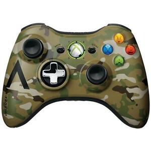Official Microsoft Xbox 360 Camouflage Wireless Controller OEM Genuine Authentic