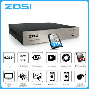 ZOSI 1080P HD 8CH 16CH HDMI DVR Recorder for CCTV Security Camera System 0-2TB