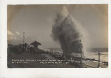 Rough Sea Damages West Parade Bexhill On Sea 23 Oct 1911 RP Postcard Vieler 622b