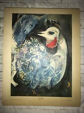 VTG 60's Marc Chagall Les Plumes en Fleurs 1st Print Pub by Con. Art Masterpiece