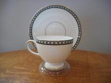 Wedgwood Black Ulander bone china Leigh shape cup and saucer - R4407
