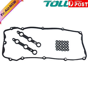 Rocker Cover Gasket & Bolt Seals Kit For BMW M52 M54 E46 E39 E60 X3 E83 X5 E53