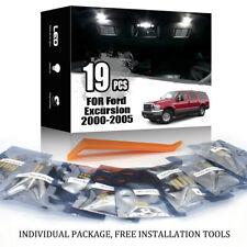 19x For Ford Excursion 2000-2005 Car Interior LED Lighting Kit Error Free + TOOL