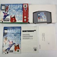 Nagano Winter Olympics '98 (Nintendo 64, 1998) N64 Complete Tested Works #0986
