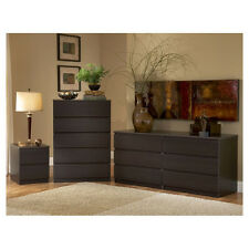 3-Drawer Brown Dresser Nightstand Bedroom Collection Set Home Living Furniture