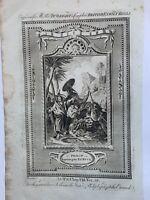 1770 Philip Baptising The Eunuch Biblical Antique Copperplate Print