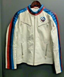 NEW OEM BMW Heritage Genuine Motorsport Leather Jacket Size: Medium 80142445934