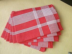 Lot de 6 serviettes de table en coton  48 x 50 cm