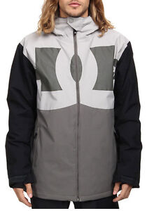 DC Billboard Mens Insulated Snowboard Snow Ski Jacket Pewter Gray Large DEFECT