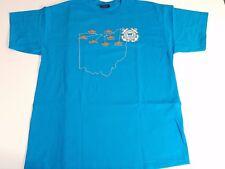 United States Coast Guard Ohio Division Turquoise Blue T-Shirt XL
