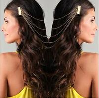 Fashion Women Metal Head Chain Jewelry Forehead Dance Headband Piece Hair band