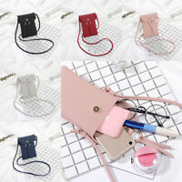Women Girl Wallet Purse Leather Coin Cell Phone Mini Cross-body Shoulder Bag
