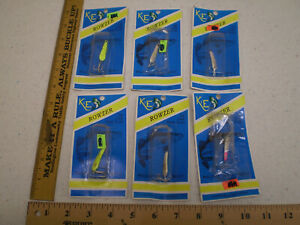 Lot of 6 K & E Rowzer Ice Fishing Lures Walleye Perch Trout Pike Bass NEW