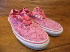 Vans Authentic Pink Hello Kitty Patterned Canvas Trainers Size UK 3 EU 35