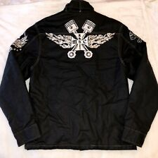 Chain Stitch motorhead Piston Jacket Gas Monkey fight club zip up Mens XL