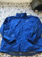 KARRIMOR Weathertite Waterproof Hooded Jacket Size 2XL In Blue Men's Zip Up