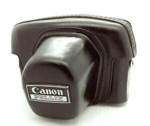 Vintage CANON PELLIX film Camera  Original Leather Case