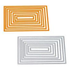 8X Metall Karte Form Stanzschablonen Metall Schneiden Schablonen Scrapbooking