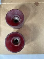 New listing Vintage Simms Urethane Skateboard Wheels Red 70s Old School Set Of Two Wheels
