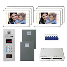 """Apartment Door Security Video Intercom Kit System with (6) 7"""" Color Monitor"""
