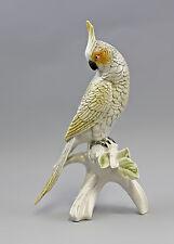 Vogel Porzellanfigur Nymphensittich gelb-weiß Ens H23,5cm 9941552