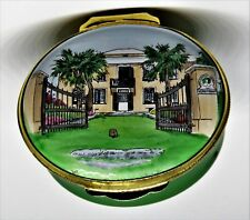 CRUMMLES ENGLISH ENAMEL BOX - BERMUDA - VERDMONT MUSEUM - SMITH'S PARISH - HOUSE