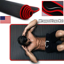 """72"""" Yoga Mat Thick Fitness Meditation Exercise Camping Workout  Gym Pad Non-Slip"""