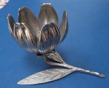 Vástago de METAL escultura de Hojas Pétalo de Flores completa sin firma