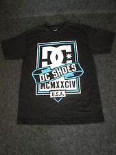 Mens Genuine DC Casual Fashion Skate Tee T-Shirt S M L XL - black/blue/whi DC01