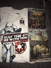 May The 4th Star Wars Disney Shirt M + Pin & Galaxy's Edge Comic #1 Reg & Vari