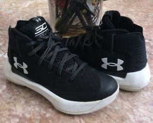 Under Armour Wardell Sc Boy's Basketball Athletic shoes Sz 4.5Y #1295998-001 EUC