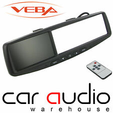 "VEBA AV43MM 4.3"" inch Car Rear View Mirror LCD Reversing Screen Monitor Built In"