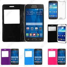 Etui Fenêtre View PU Cuir Samsung Galaxy Grand Prime/VE Plus Ace Core 4G Trend
